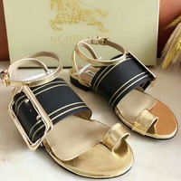 ZK BURBERRY Women Fashion Heels Sandals Shoes
