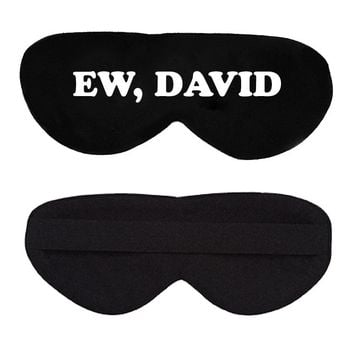 Ew, David Cotton Lux Sleep Mask
