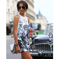 Spring Summer 2015 Ladies Fashion  Print Sleeveless O Neck Dress Women's Casual Straight Dresses