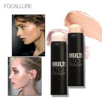 FOCALLURE Face Blushes Bronzer Highlighter and Shimmer for Bright Idea Illuminating Sticker Makeup Tools Long-lasting Concealer