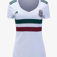 Adidas Mexico Womens Away Jersey 2018 A1009788 White