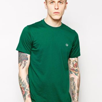 Fred Perry T-Shirt with Laurel Logo EXCLUSIVE - Green