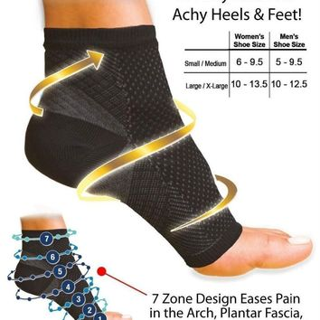 Ankle Heels Support Compression Foot Sleeve Heel Arch Support Pain Relief