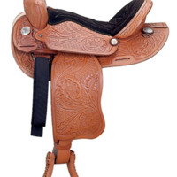 "14""-16"" Rodeo Star Barrel Racing Saddle by Ozark Leather Co. SQH Bars"