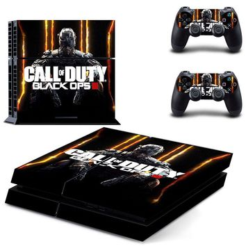 PS4 skin Stickers Sticker For Sony Playstation 4 Console+2 controller Skin Sticker - Call OF Duty Black OPS III