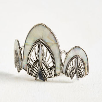 Call the Cabaret Hair Comb in Frost | Mod Retro Vintage Hair Accessories | ModCloth.com