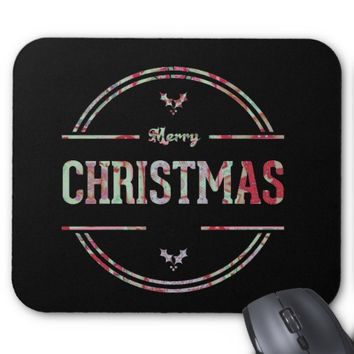 Merry Christmas Greeting Mouse Pad