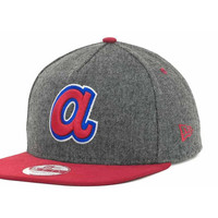 Atlanta Braves MLB Tweed 9FIFTY Strapback Cap