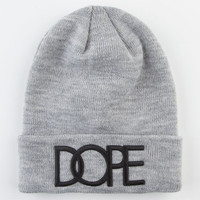 Dope Cuff Beanie Grey One Size For Men 22560711501