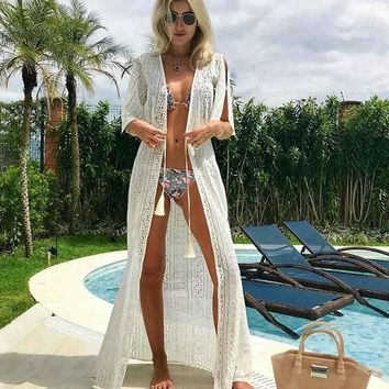Pareo Beach To Swimsuit Coverup Summer Wear Bathrobe Coverups For Women Bathing Suit Covers 2018 Big Loose Lace Overcoat Animal