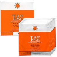 Tan Towel Half Body Plus Self-Tan Towelettes 10 Pack