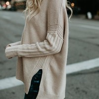 Cole V-Neck Sweater - Petal