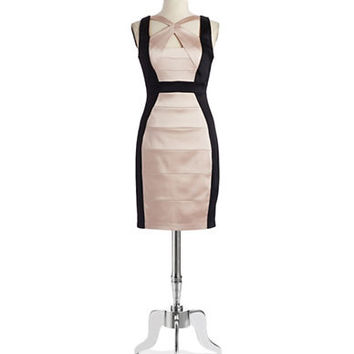Jax Studio Colorblock Bandage Dress