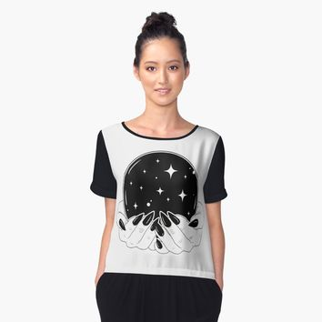 'Crystal Ball' Women's Chiffon Top by Natasha Sines