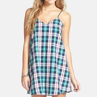 Junior Women's Basil Lola Plaid Swing Dress