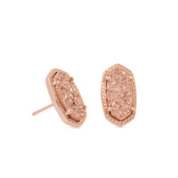 Ellie Rose Gold Drusy Stud Earrings | Kendra Scott