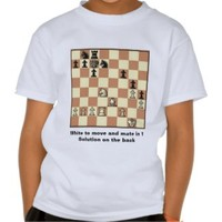 Chess Mate In 1 Puzzle #3 Kids T-Shirt