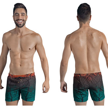 Clever Chameleon Swim Trunks