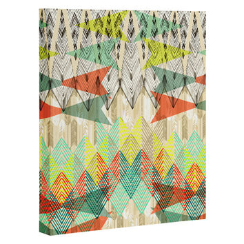 Pattern State Arrow Dawn Art Canvas