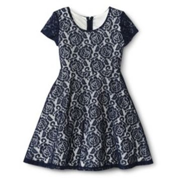 Xhilaration® Girls' A-Line Lace Dress -