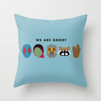 We Are Groot Throw Pillow by Dorothy Timmer
