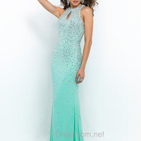 Blush Halter Top Prom Gown 9943