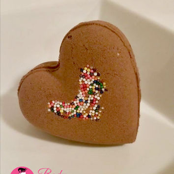 Bath Bomb Fizzy - Heart Shaped - Valentine's Gifts -Chocolate Lovers Bath Soak (Vegan) 5-6oz