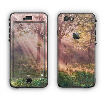 The Pink Sun Ray Meadow Apple iPhone 6 LifeProof Nuud Case Skin Set