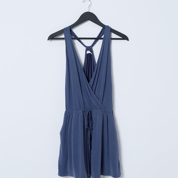 On The Go Romper - Blue