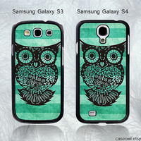 Phone cases, Samsung Galaxy S3 Case, Samsung Galaxy S4 Case, Owl--Samsung Case, Case for Samsung Galaxy-396