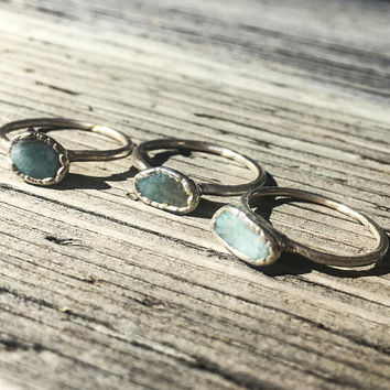Amazonite Silver Ring | Stone Ring | Electroformed Jewelry | Green Ring | Electroform Ring | Amazonite & Silver Ring | Crystal Ring