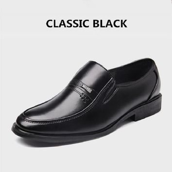 HOT SALE Genuine Leather Office Shoes Non-slip Abrasion Men Business Shoes Patent Leather Oxford x668