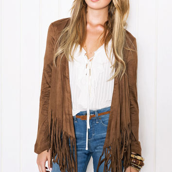 women ethnic tassel cardigan jacket
