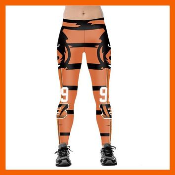CINCINNATI BENGAL S 3D PRINT WOMEN LEGGINGS HIGH WAIST LEGGING STEELERS PRINTED WOMEN PANTS SLIM FITNESS LEGGINS