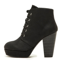 Black Lace Up Heel