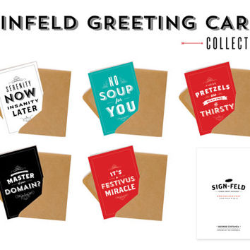 5 x Seinfeld Greeting Cards - Collection Two - Anniversary - Congratulations - Apology -