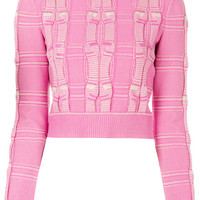 Fendi Embroidered Cropped Sweater - Farfetch