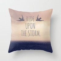 Ride Upon The Storm Throw Pillow by Sabine Doberer | Society6