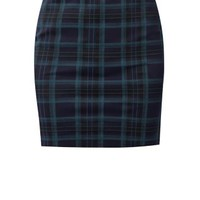 Green Check Tube Skirt