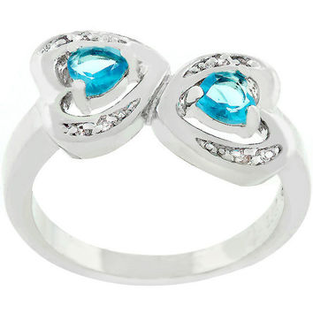 Mirrored Hearts Ring