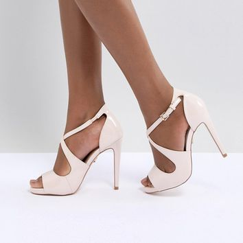 Lipsy Platform Sandal With Cross Over Detail at asos.com