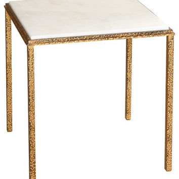 Hammered Gold Square Cocktail Table