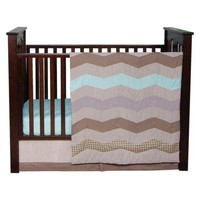 Cocoa Mint 3pc Crib Bedding Set- Gender Neutral
