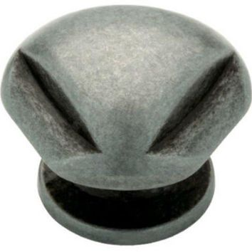 "Liberty 62933AP Triangle Top Cabinet Hardware Knob, 1-1/4"", Pewter Antique"