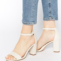 Miss KG Paige White Heeled Sandals