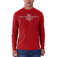 Houston Rockets '47 Brand Current Logo Flanker Long Sleeve T-Shirt - Red