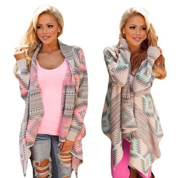 2016 Women Cardigan Pink Long Cardigans