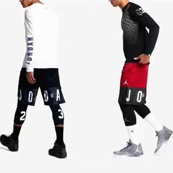 ICIKCW9 Jordan SPlicing Print Sport Casual Contracted Shorts 4 Color G-A-XYCL