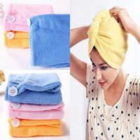 1pc Microfiber Bathing Quick Dry Hair Magic Drying Turban Wrap Towel Hat Cap New = 5658493441