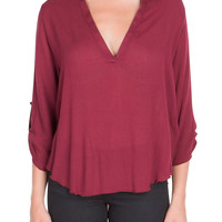 V-Shaped Top in Red
